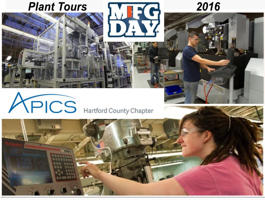 APICS Hartford Manufacturing Month 2016 Plant Tours